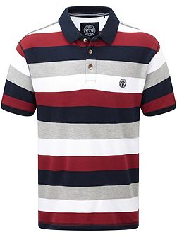 Wells Stripe Polo Regular Fit Polo Shirt