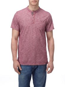 Dingham Plain Grandad Collar Regular Fit T-Shirt