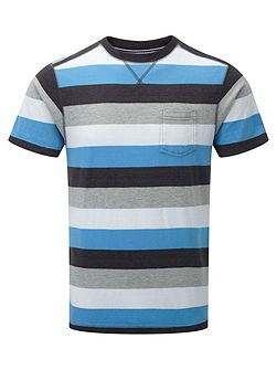 Stead Stripe Crew Neck Regular Fit T-Shirt