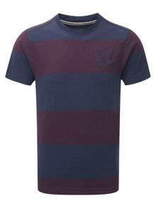 Carr Stripe Crew Neck Regular Fit T-Shirt