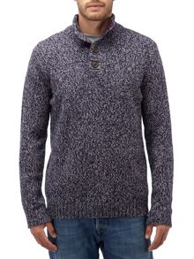 Tog 24 Zak Mens Knit Button Neck Jumper