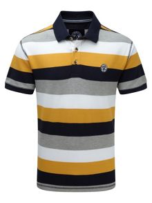 Tog 24 Wells Stripe Mens Polo Shirt