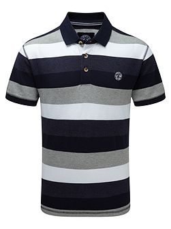 Wells Stripe Mens Polo Shirt