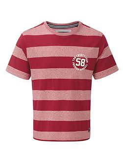 Miller mens deluxe stripe t-shirt