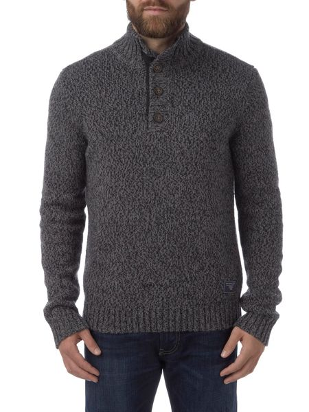 Tog 24 Falmouth Mens Knit Button Neck