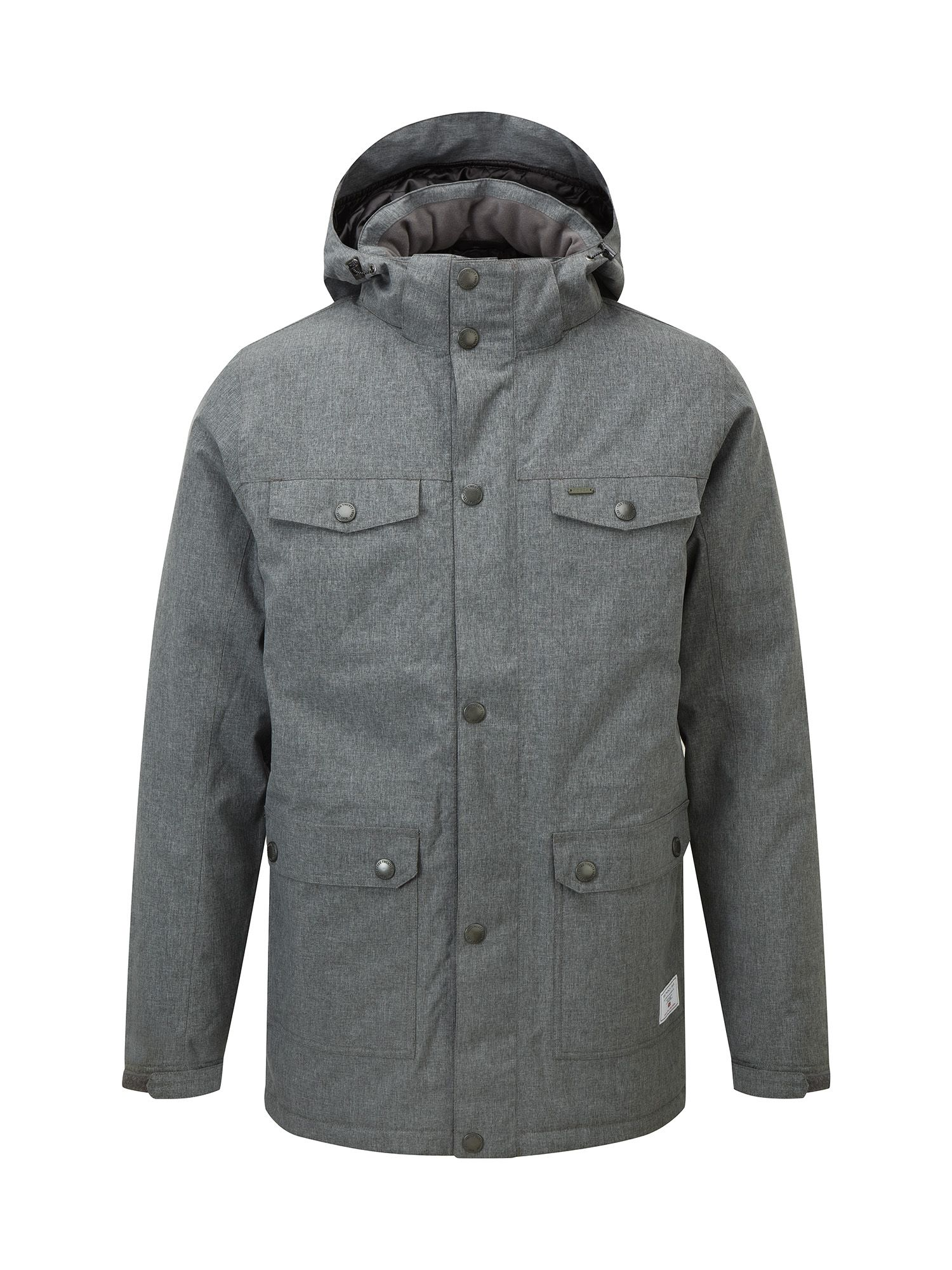 Mens Tog 24 Bexley Mens Milatex Parka Jacket Grey Marl