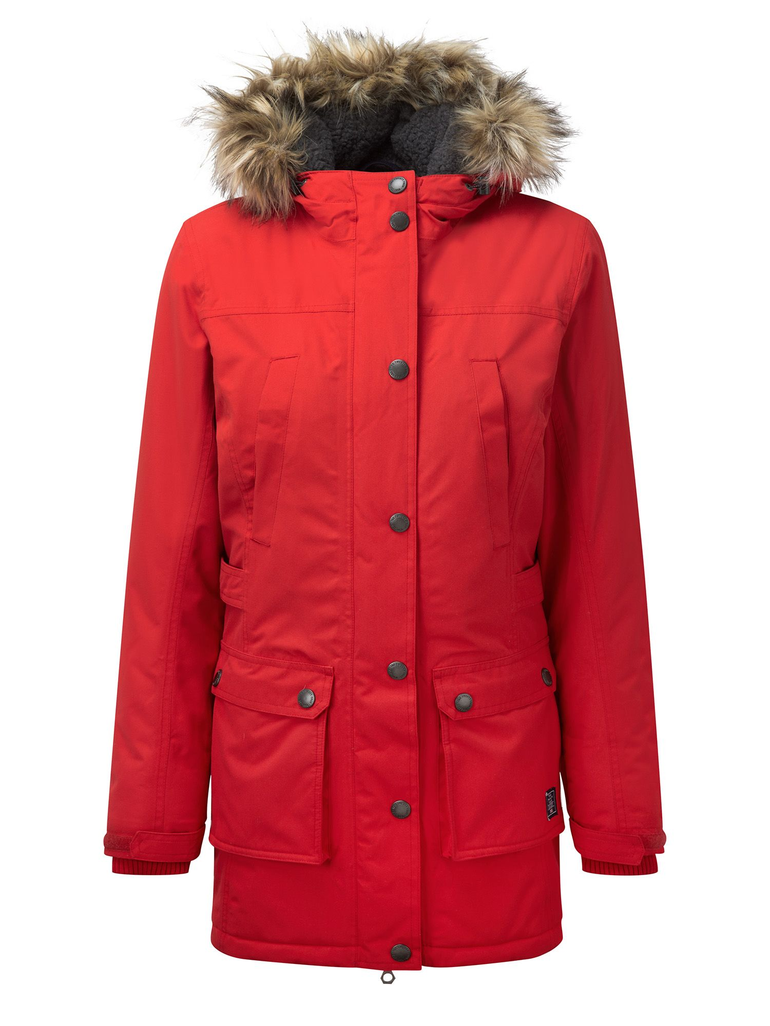 Tog 24 Farley Womens Milatex Parka Jacket, Red