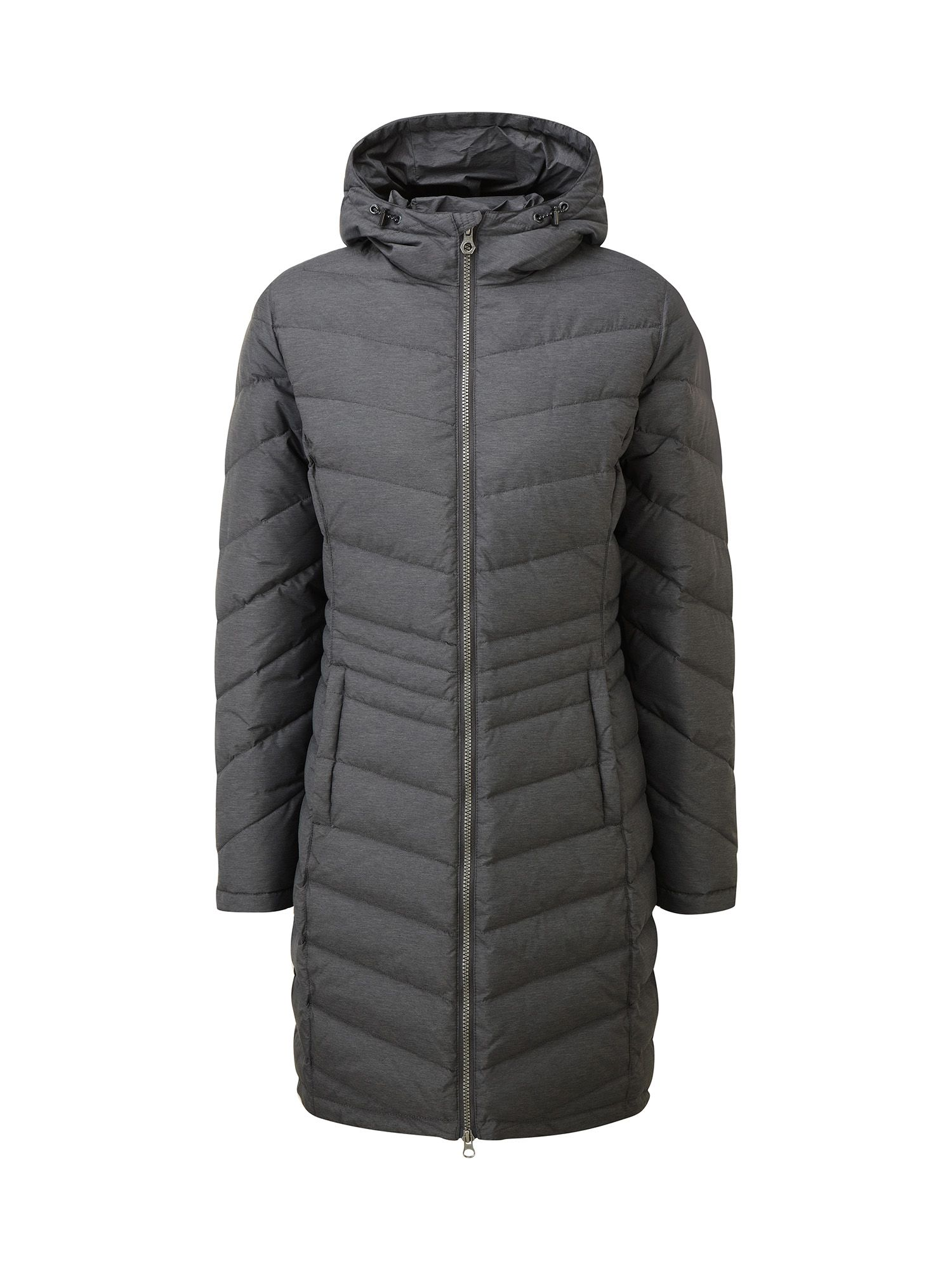 Tog 24 Vienna Womens Longer Length Down Jacket, Grey