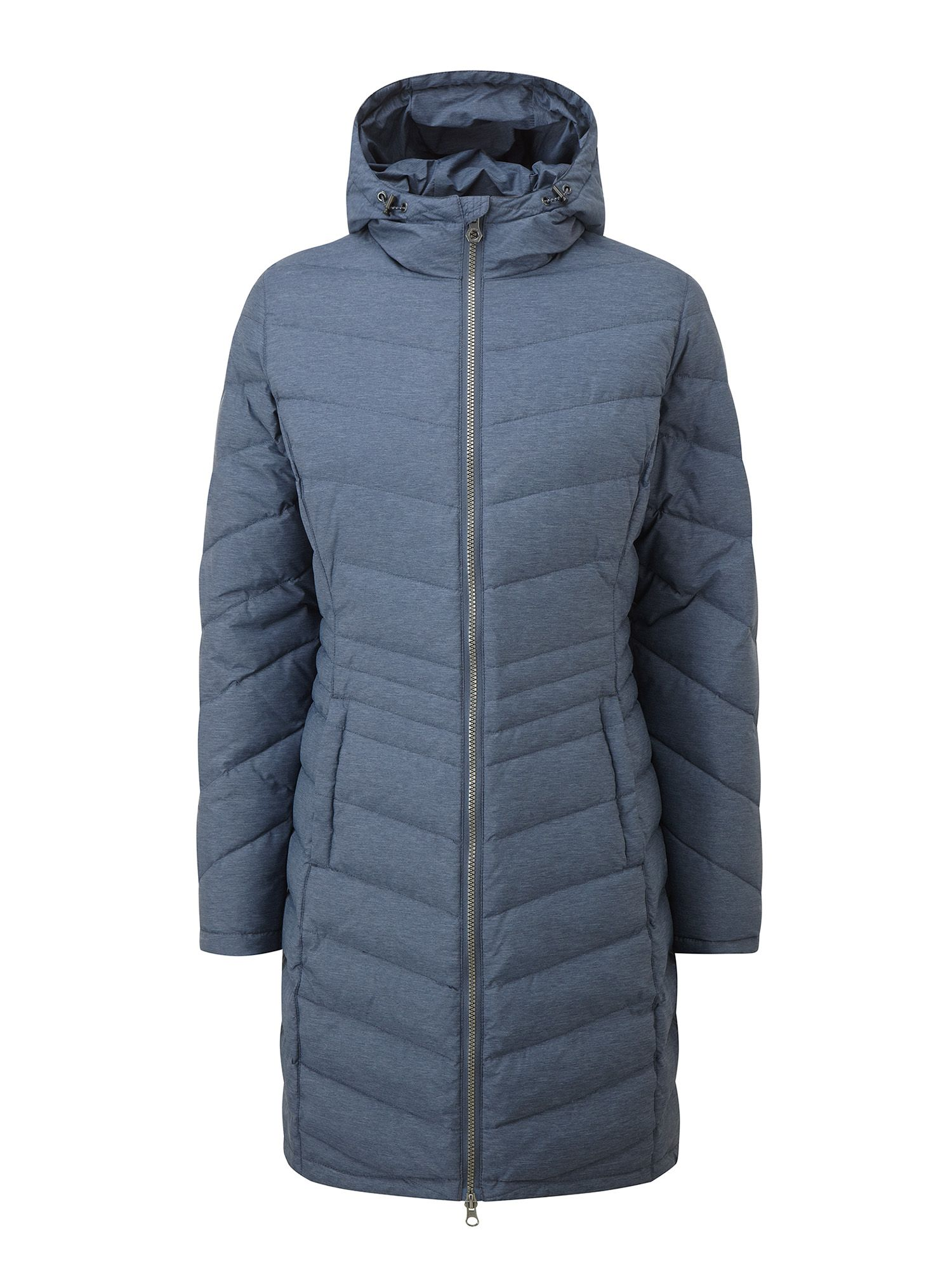Tog 24 Vienna Womens Longer Length Down Jacket, Blue
