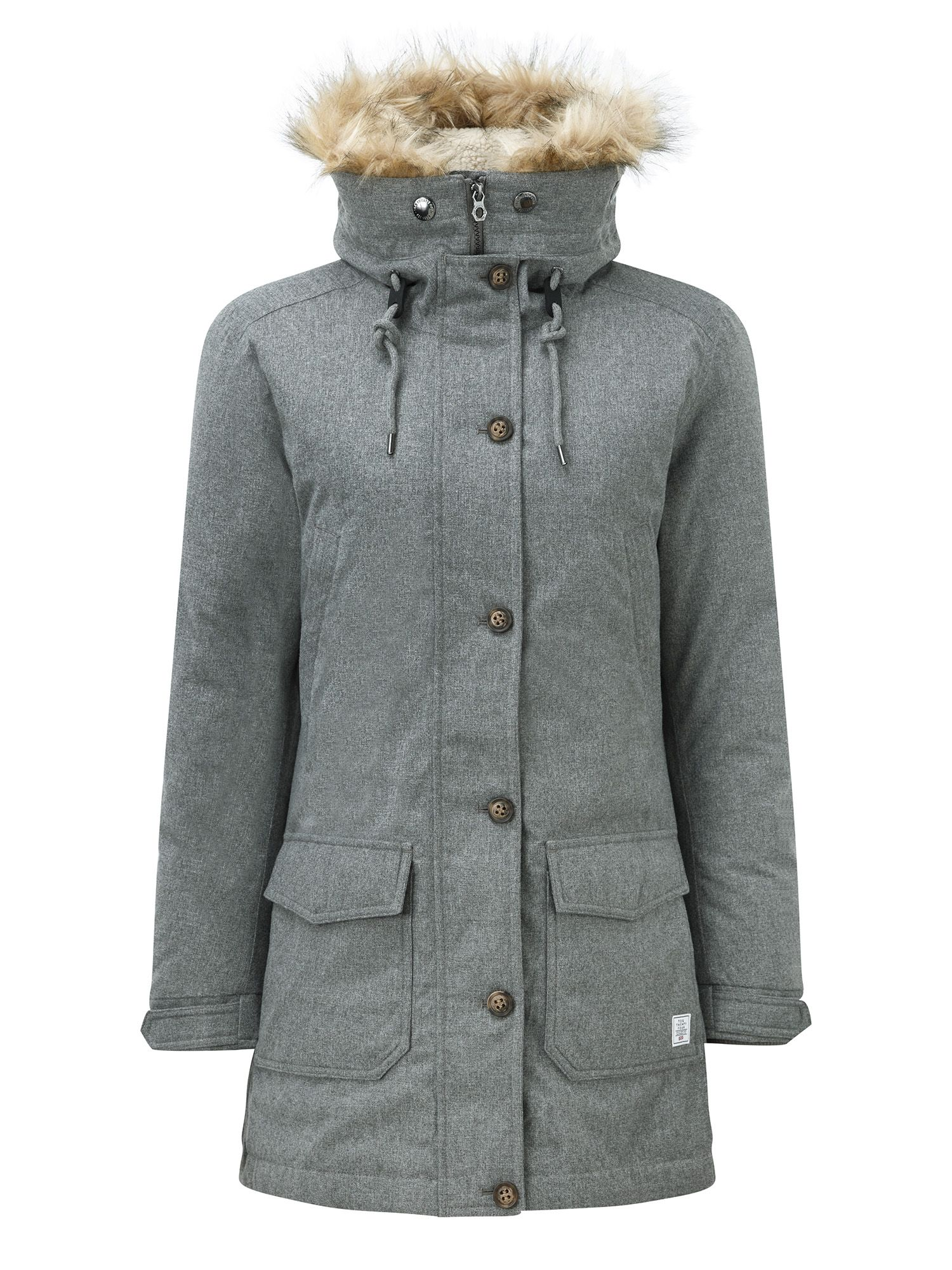 Tog 24 Kelso Womens Milatex/Down Parka Jacket, Grey