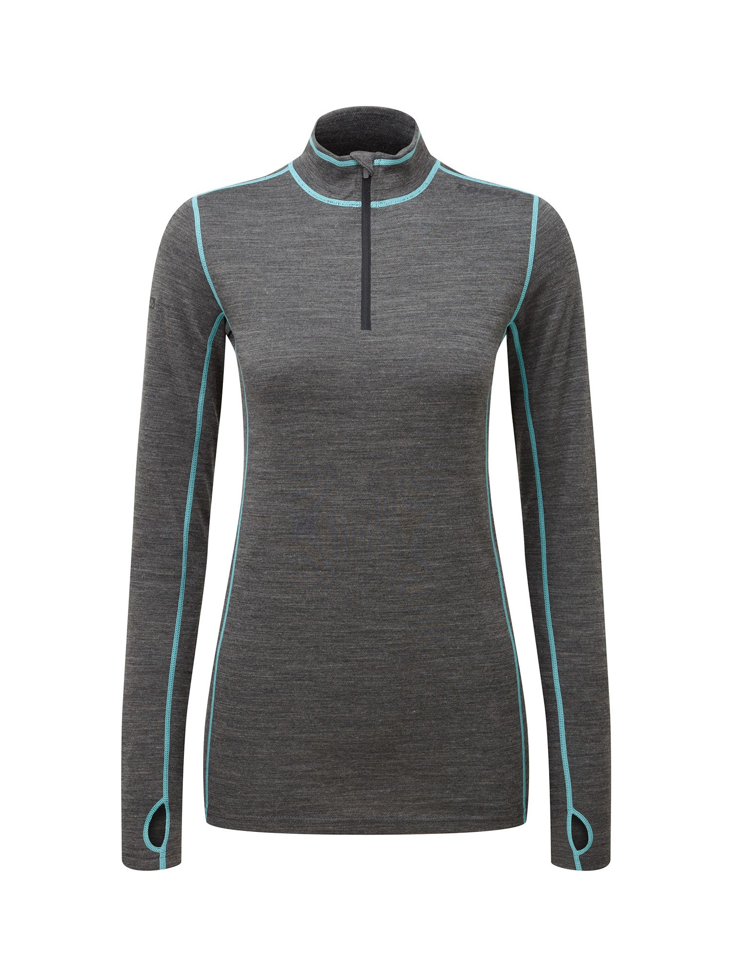 Tog 24 Creation Womens TCZ Merino Zip Neck, Grey