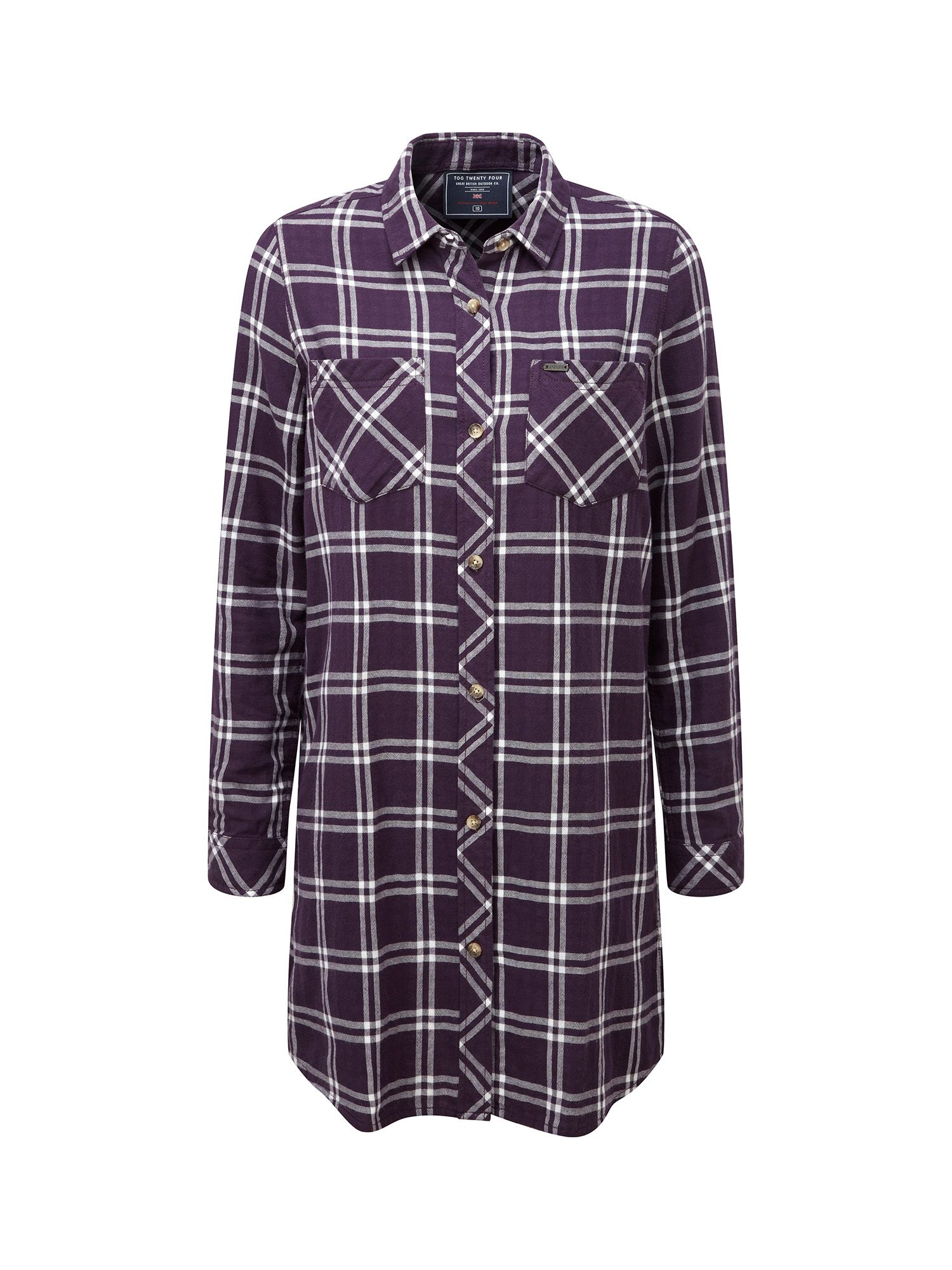 Tog 24 Dalton Womens Double Weave Winter Shirt, Purple