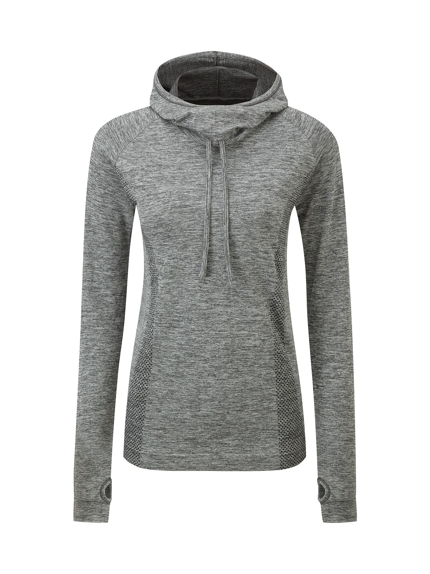 Tog 24 Vivace Womens TCZ Stretch Seamless Hoodie, Grey