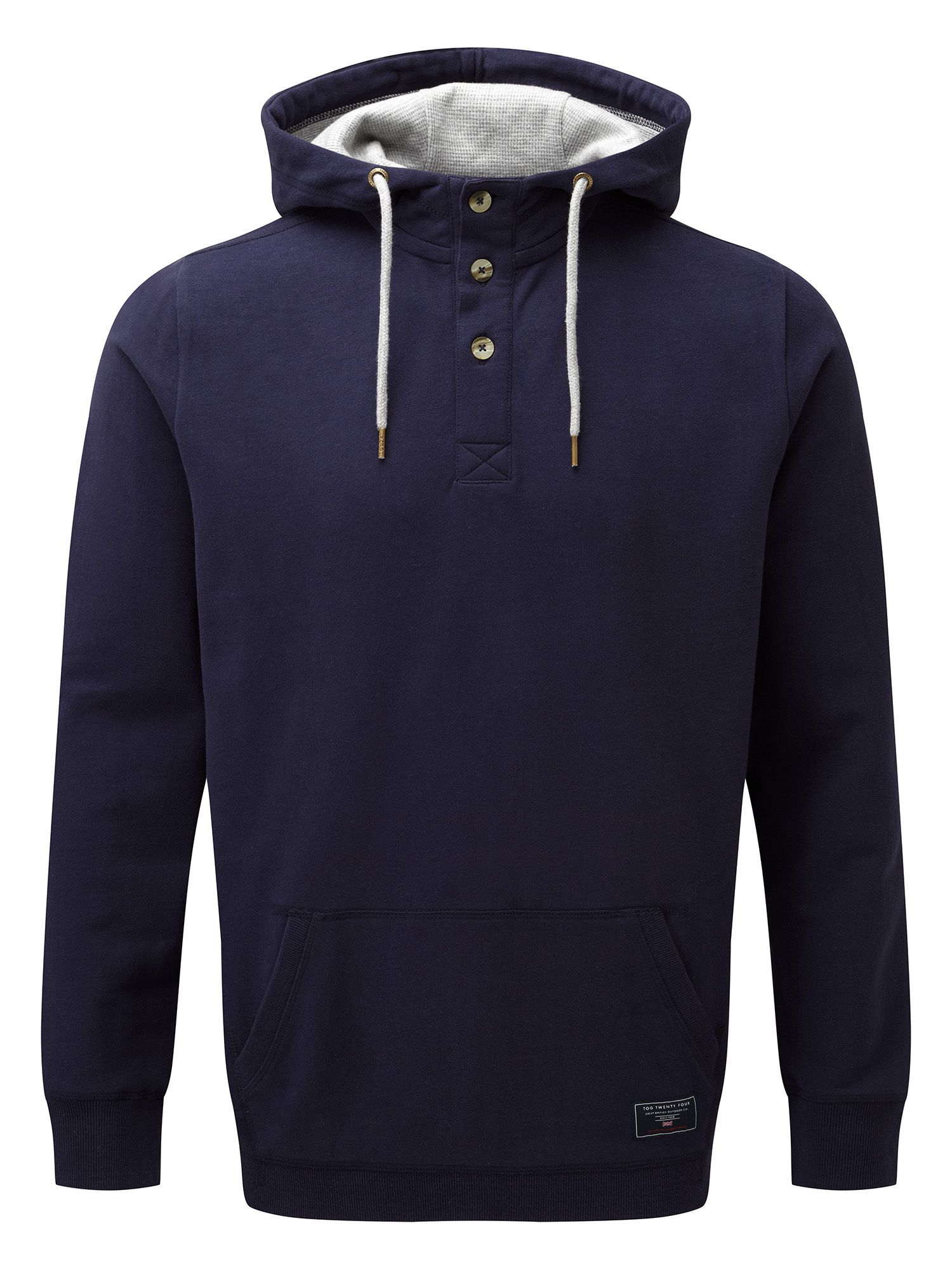 Men's Tog 24 Christie Mens Deluxe Button Hoodie, Blue