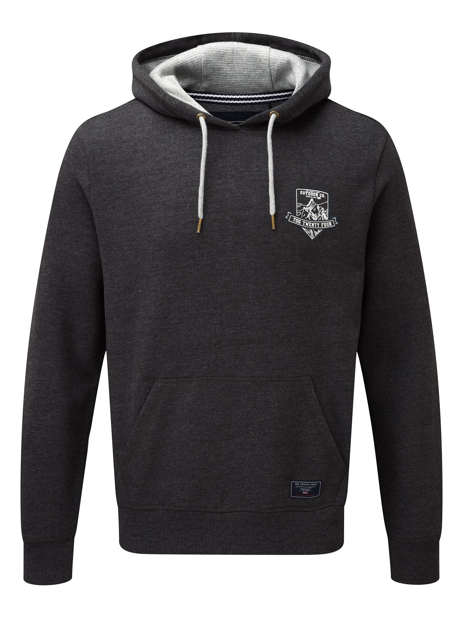 Men's Tog 24 Garner Mens Deluxe Hoodie Badge, Grey