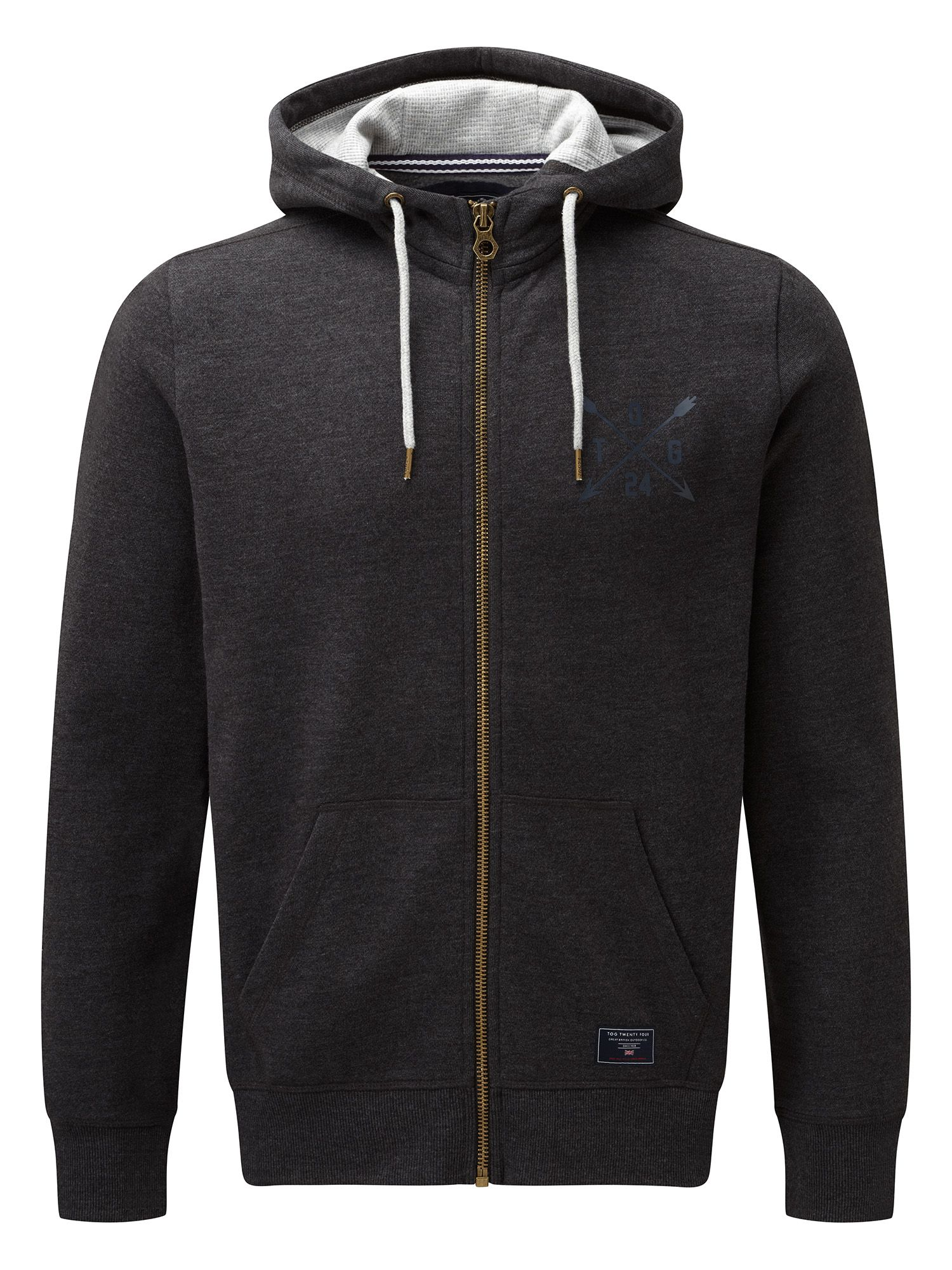 Men's Tog 24 Stewart Mens Deluxe Hoodie Arrow, Dark Grey Marl