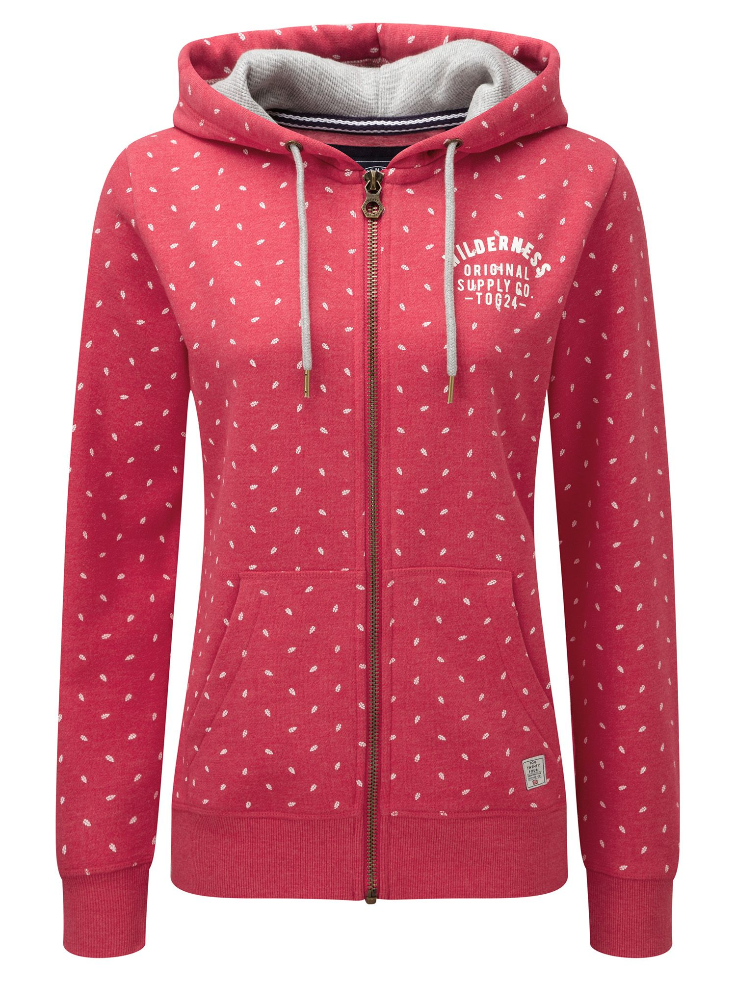 Tog 24 Ava Womens Deluxe Hoodie Wilderness Print, Pink