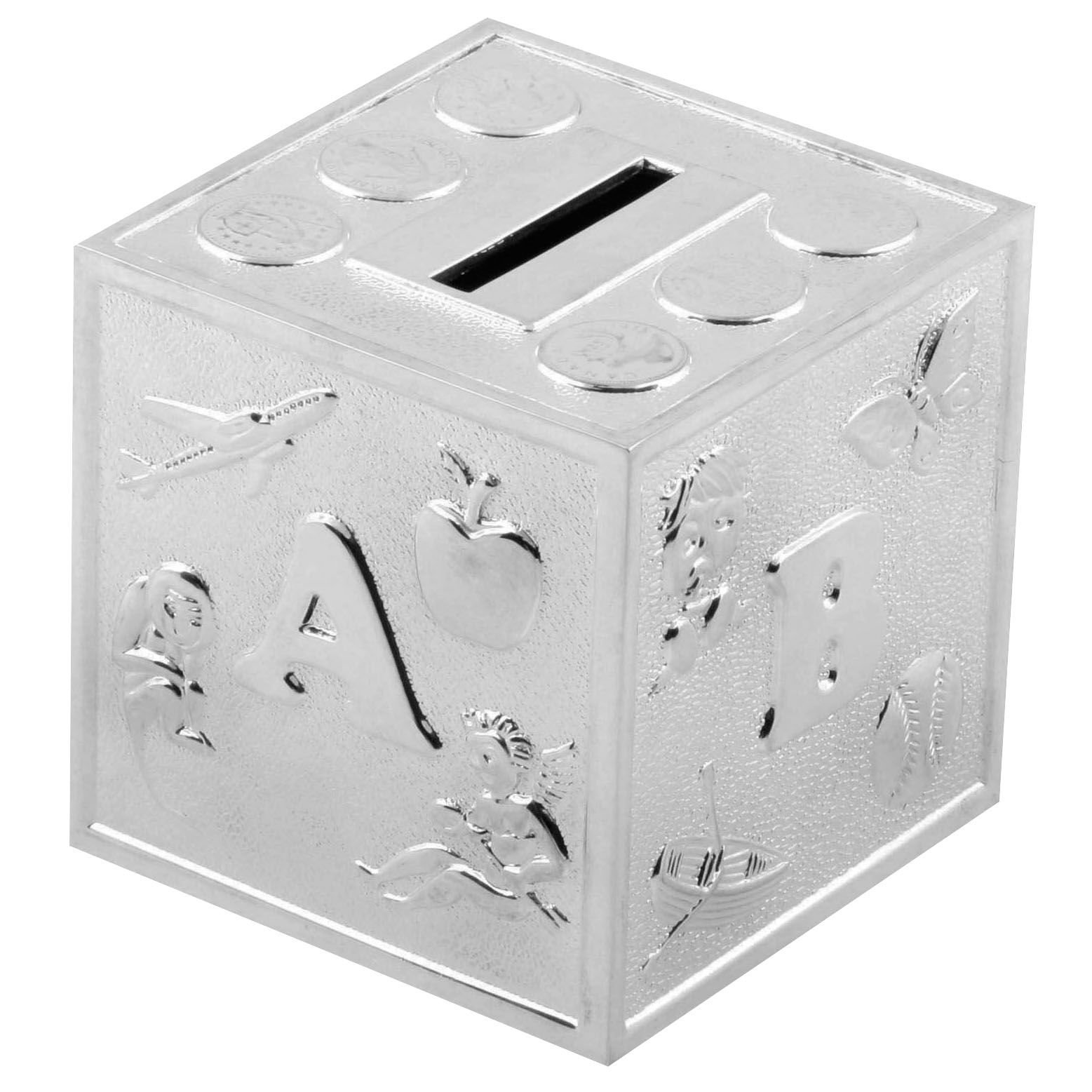 Bambino Bambino Bambino S/Plated Money Box - Cube A B C