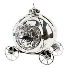 Bambino S/plated money box - cinderella
