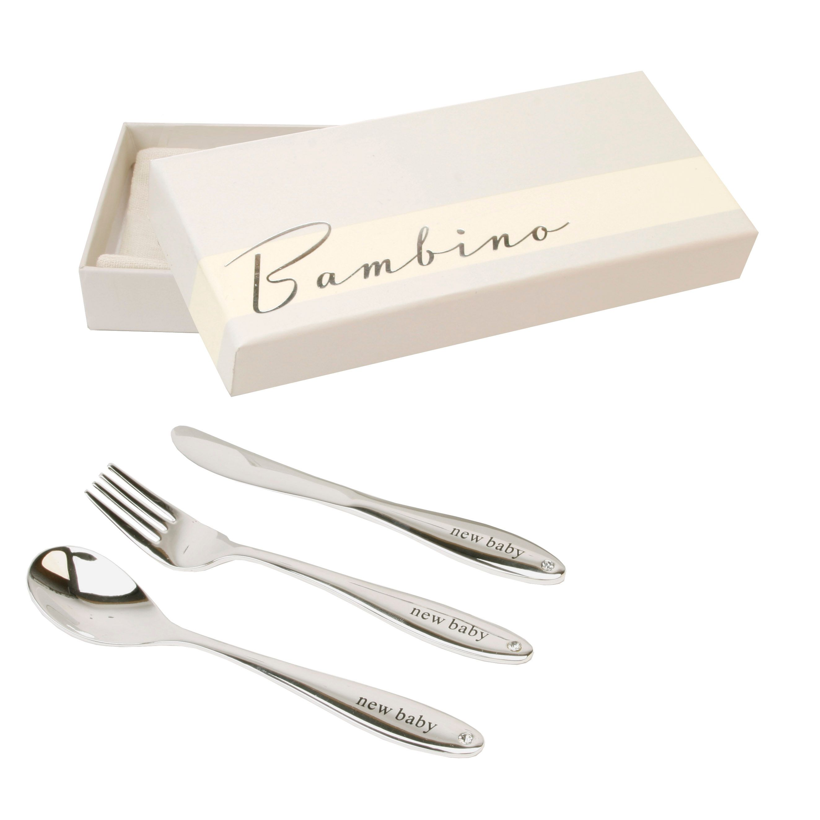 Bambino Bambino S/plated knife, fork/spoon set