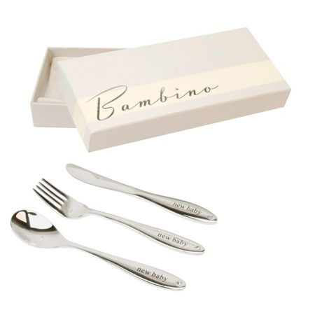 Bambino S/plated knife, fork/spoon set