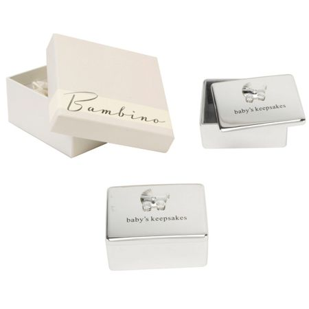 Bambino S/plated baby`s keepsake box