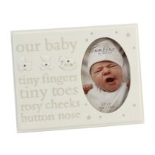 Bambino Resin photo frame our baby