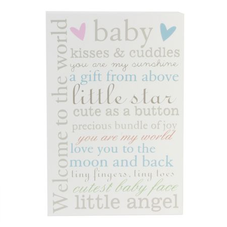 Bambino Wall plaque welcome to the world