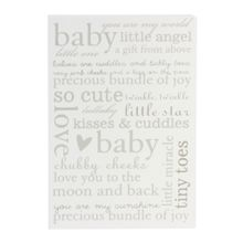 Bambino Mdf wall plaque baby portrait