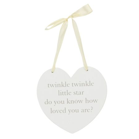 Bambino Mdf wall hanging heart plaque