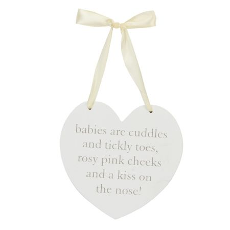 Bambino Mdf hanging heart wall plaque