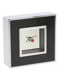 Carbon mantel clock