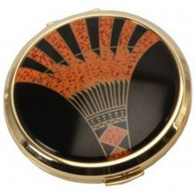 Stratton of Mayfair Art deco compact convertible mirror