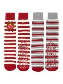 Robin Slipper Sock 2 pack