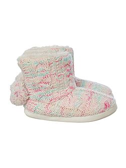 Totes Cable Knit Space Dye Boot
