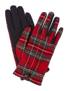 Tartan Glove With Thermal Palm