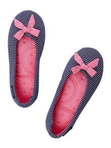 Isotoner Nautical Ballet Slipper