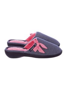 Isotoner Nautical heeled mule slipper
