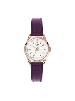 Hampstead leather strap watch.