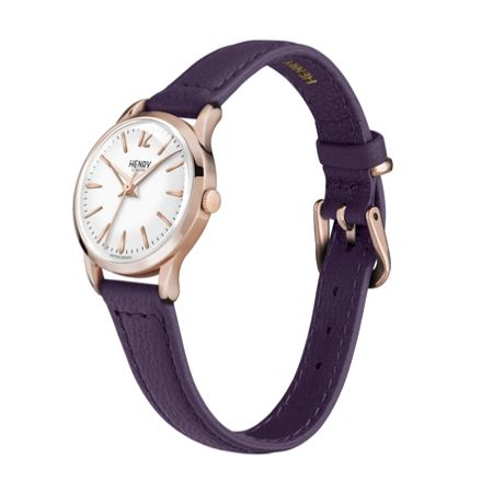 Henry London Hampstead leather strap watch.