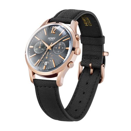 Henry London Finchley leather strap watch.
