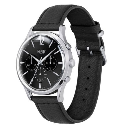 Henry London leather strap watch.