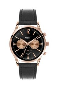 Henry London Richmond leather strap watch.