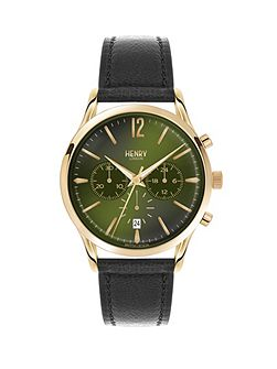 Chiswick leather strap watch.