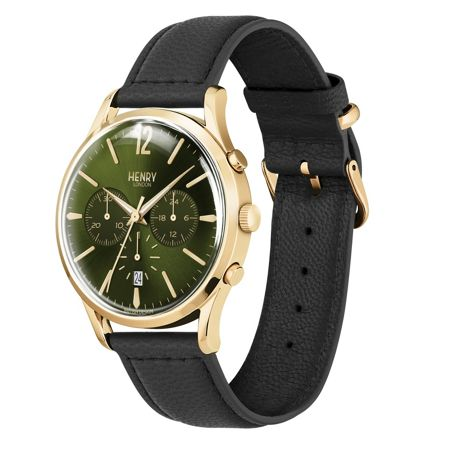 Henry London Chiswick leather strap watch.