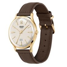 Henry London Westminster leather strap watch.