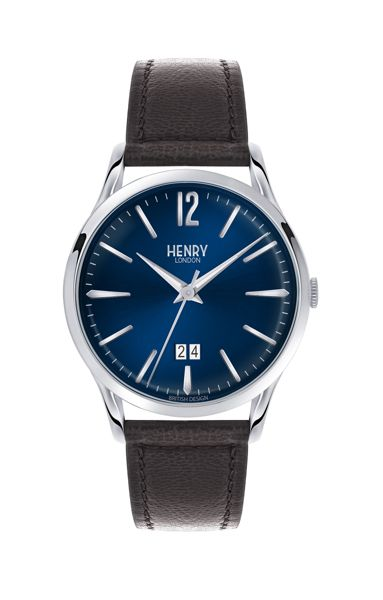 Henry London Knightsbridge leather strap watch.