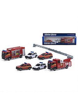 Motor zone fire and rescue team vehicles