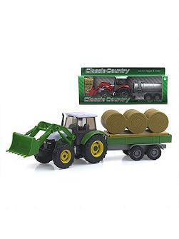 Country tractor digger and trailer