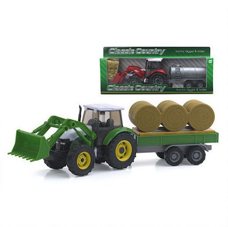 Peterkin Country tractor digger and trailer